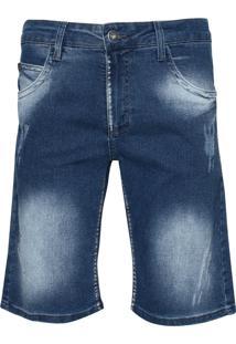 Bermuda Jeans Masculina Max Denim Puídos