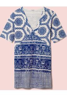 Vestido Silk Azulejo