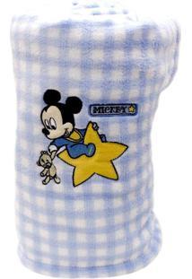 Manta Jolitex Microfibra Bordado Disney Azul