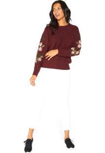 Suéter Bordado Mangas