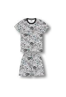 Pijama Marisol Adulto Branco