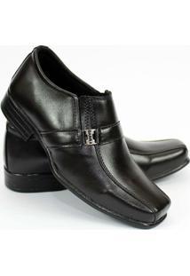 Sapato Social Garra Infantil Couro Ecológico - Masculino-Preto
