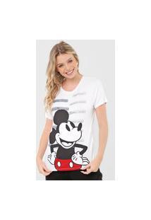 Camiseta Cativa Disney Mickey & Minnie Text Branca