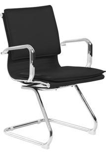 Cadeira De Escritório Interlocutor Fixa Eames Comfort Preta