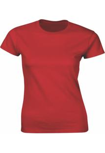 Camiseta Algodão Kronoz Feminina Vermelha - Kanui