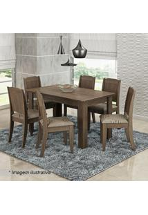 Conjunto De Mesa & Cadeiras Bárbara Para 6 Lugares- Marrcimol