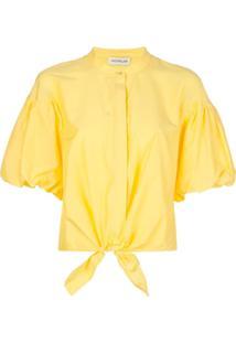 Nicholas Camisa Com Amarração Frontal - Amarelo