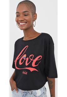 Camiseta Coca-Cola Jeans Love Preta
