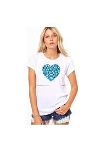 Camiseta Coolest Coraçao Olho Grego Branco