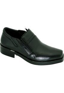 Sapato Social Ferracini Com Zíper Masculino - Masculino-Preto