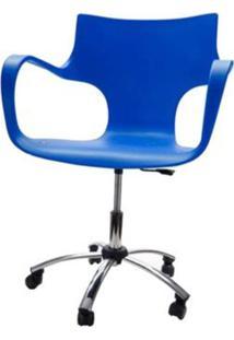 Cadeira Jim Base Giratoria Cromada Cor Azul - 17184 - Sun House
