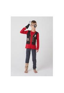 Pijama Infantil Menino Longo Pirata