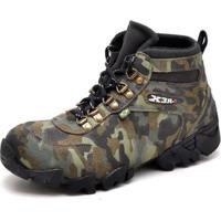ef25af036 Bota Coturno Adventure Top Franca Shoes Camuflado - Masculino