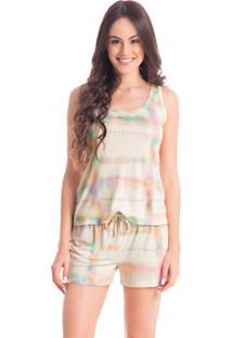 Pijama Tie Dye Regata Trendy