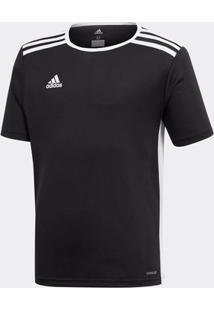 Camisa Adidas Entrada 18 Preta Infantil - 12