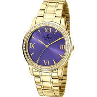 4db31558e3d Relógio Champion Analógico Ch24679D Feminino - Unissex-Dourado