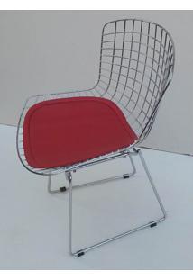 Cadeira Bertoia Assento Courrissimo Vermelho 9842 - Sun House