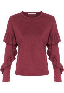 Camiseta Feminina Natureza - Vinho