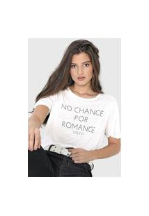 Camiseta Colcci No Chance Branca