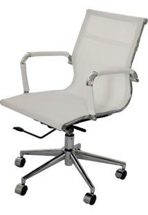 Cadeira Eames Telinha Baixa Branca Cromada - 15181 - Sun House
