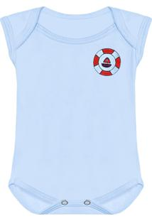 Body Padroeira Baby Urso Leme Azul