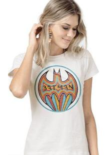 Camiseta Bandup! Batman Colorful - Feminino-Off White