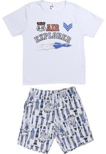 Pijama Infantil Curto Dk Masculino - Masculino