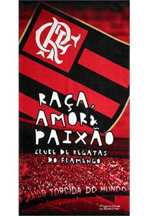 Toalha De Banho Flamengo Torcida - Unissex