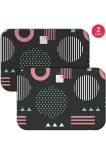 Jogo Americano Love Decor Geometric Pink Chumbo/Rosa