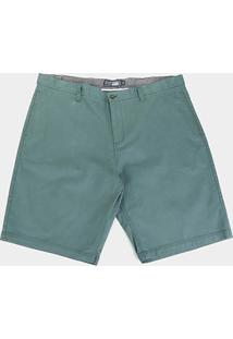 Bermuda Gajang Lisa Plus Size Masculina - Masculino-Verde