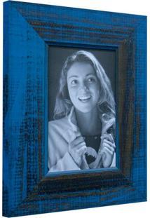 Porta Retrato De Mesa Para Foto 10X15 Cm Azul