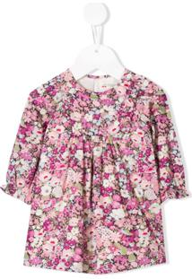 Bonpoint Vestido Com Estampa Floral - Roxo