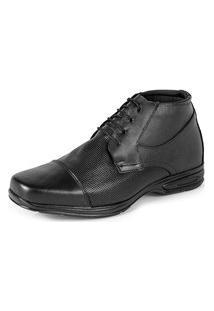 Sapato Bota Social Confort Em Couro San Lorenzo 5061 Preto