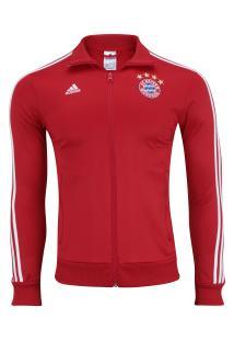 Jaqueta Bayern De Munique 3S Adidas - Masculina - Vermelho/Branco