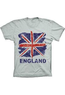 Camiseta Baby Look Lu Geek England Flag Prata