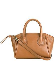 d31014fd4 Bolsa Couro Shoestock Mini Bag Clássica Tiracolo Feminina - Feminino -Caramelo
