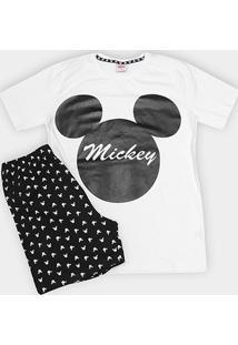 Pijama Infantil Evanilda Mickey Malha Curto Tal Filho Masculino - Masculino