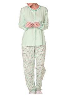 Pijama Longo Meia Malha Bela Notte (990390) 100% Algodão
