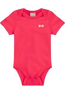 Body Bebê Milon Cotton Liso Feminino - Feminino-Vermelho