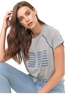 Camiseta Colcci Lettering Cinza - Kanui