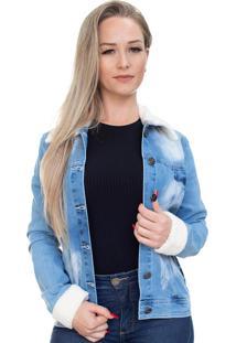 Jaqueta Jeans Ecolife Com Pelo