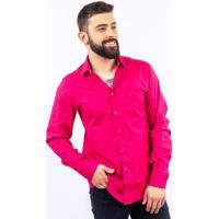 Loja Good Mood. Camisa Lupim Slim Fit Pink a91ca573279b8