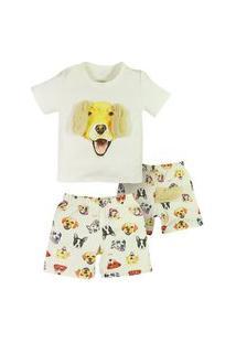 Pijama Infantil Menino Grow Up Dreams Dog Grow Up Estampado
