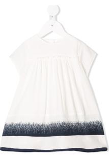 Chloé Kids Vestido Mangas Curtas Com Pregas - Branco