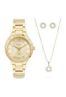 Relógio Condor Feminino Dourado Analógico Copc21Aeatk4D