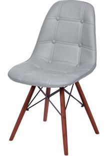 Cadeira Eames Botone Cinza Base Escura - 54682 - Sun House