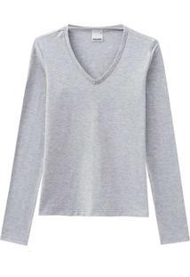 Camiseta Feminina Malwee 1000026292 50000-Cinza-Cl