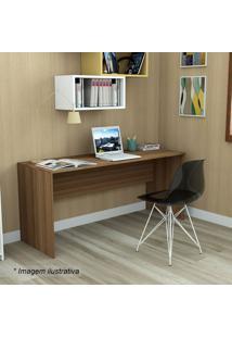 Mesa Para Escritório Office Plus- Castanho- 74X163X5Appunto Móveis