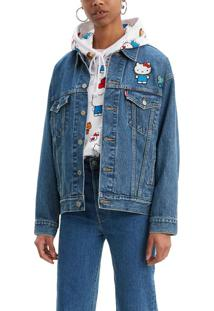 Jaqueta Jeans Levis Trucker Dad Hello Kitty - Xl