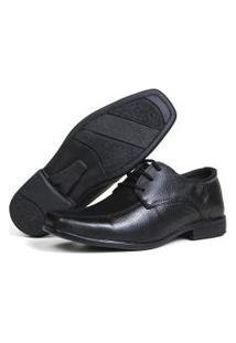 Sapato Social Anatômico Mb Outlet Em Couro Esporte Fino Preto